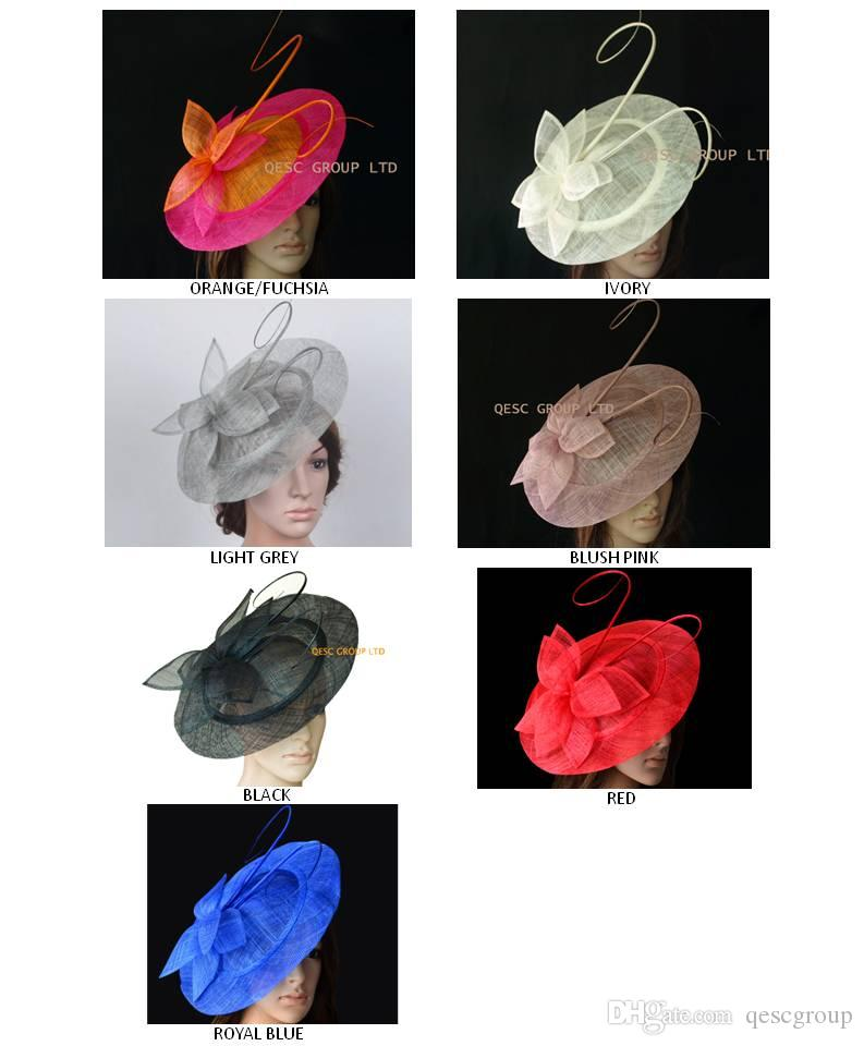FREE SHIPPING BY EMS.BIG saucer Sinamay Fascinator Hat for wedding,Kentucky derby,Melbourne cup,Ascot Races,Party,8pcs/lot.