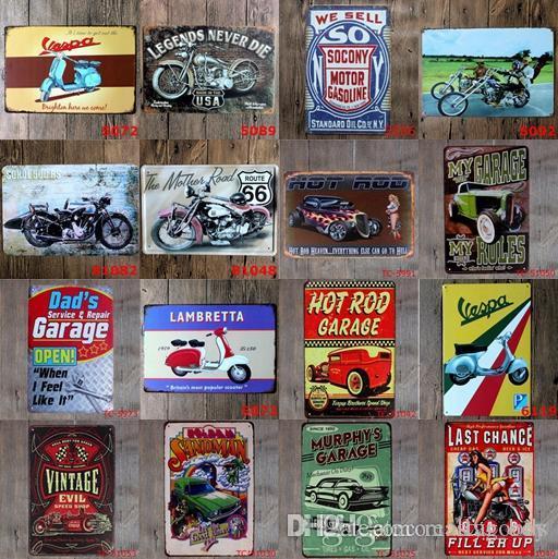 Pintor fácil Motocicleta Motor de popa Sinais Do Motor De Carro De Metal Sexy Lady Car Metal Sign Wall Art Poster Garagem Da Parede Do Vintage Decoração Da Parede