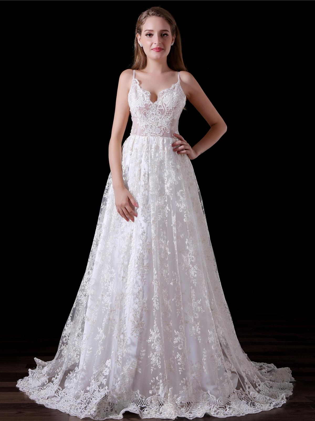 Sexy Elegant Girls Dresses V Neck Spaghetti Open Back A Line Lace Long Party Formal Evening Dresses For Women Prom Dresses