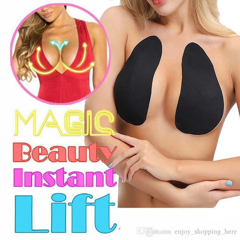 Nastro rialzato per seno Magic Beauty Stiker big size Donna invisibile Brassy Tape Breast Bra Lady Wireless Bralette Reggiseno appiccicoso Abito da festa