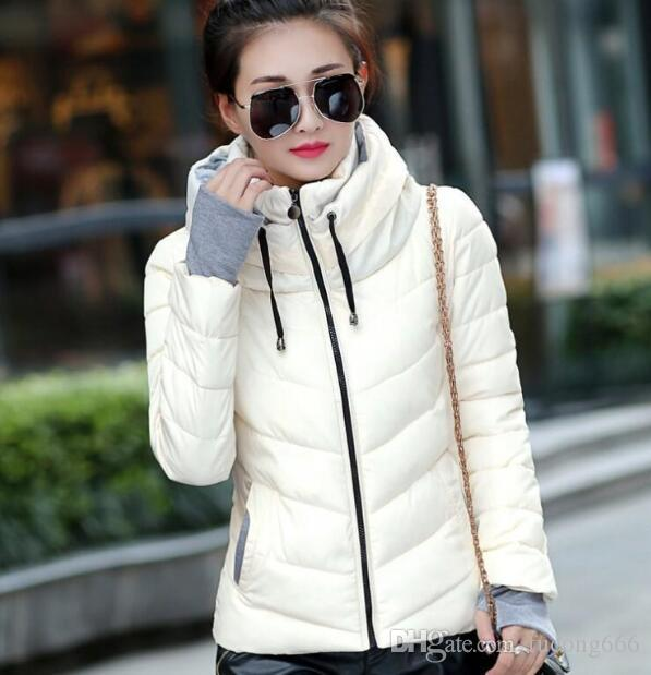 Free shipping winter new fashion ladies Parker thick winter warm jacket large size hooded down jacket multi-color short slim design cotton j