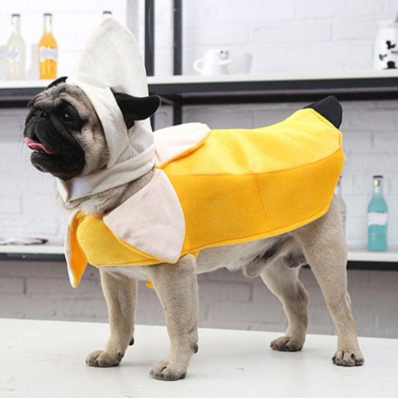 Банан Туника Смешная Тема Необычные Платье Хэллоуин Собака Костюм Собака Пальто Куртка Домашних Животных Одежды