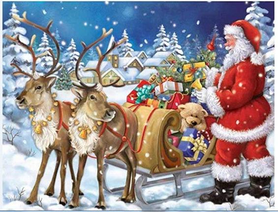 WJ1065X3 nuova 5D diamante pittura albero di Natale ricamo diamante Art Kit fai da te trapano Wall Sticker Mosaico Bambini ricamo regalo della pittura