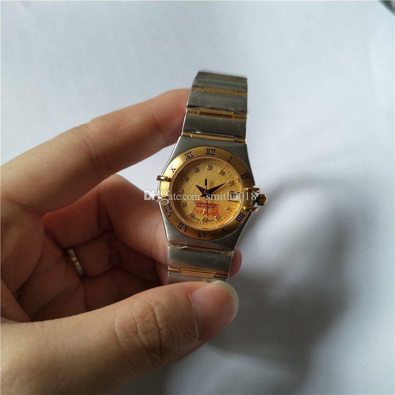 Nova moda feminina assista movimento de quartzo relógio de luxo para mulheres relógio de pulso de aço inoxidável om28