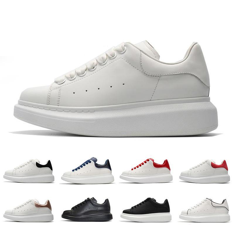 platform shoes de lujo de las mujeres de oro zapatos escotados de cuero de la marca diseñadores plana Un hombre para mujer zapatillas de deporte casuales 36-44