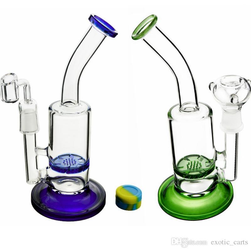 Huile de recyclage en verre de verre de 9 pouces en verre DAB DAB DAB Turbine Disc Percolator Tuyaux d'eau avec bol en verre de 18mm Quartz Banger