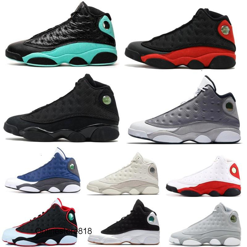 Nouveaux 13s Green Island Bred Chicago Flint Hommes Femmes Chaussures de basket-ball 13 He Got jeu Melo DMP éliminatoire Hyper Royale Sport Chaussures de sport Chaussures
