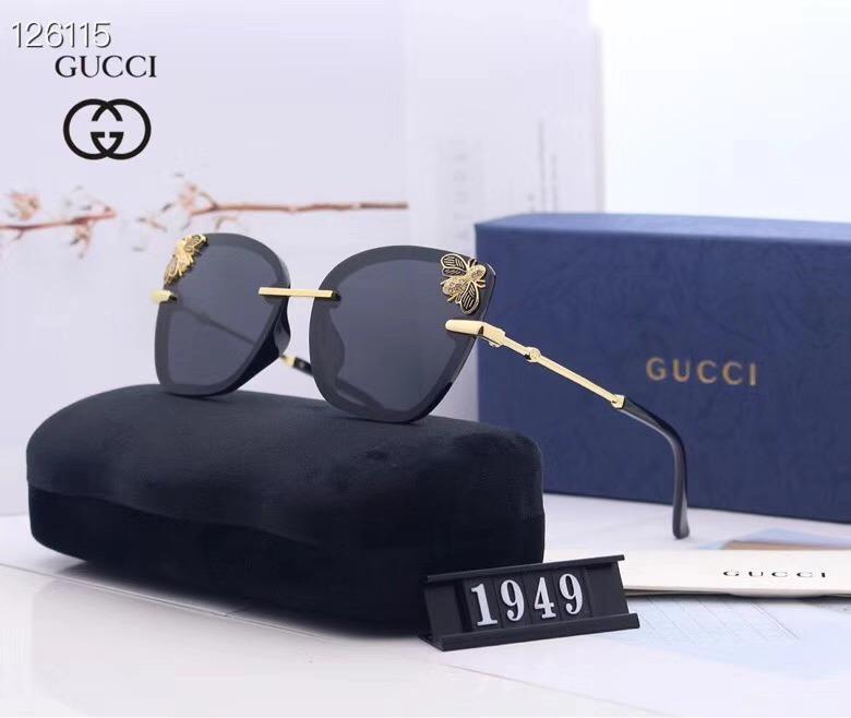 Kutular ile son Satış Üst Kalite Popüler Moda Erkekler Luxur Tasarımcılar Güneş 1949 Kare Kaplama Metal Kombinasyon Çerçeve