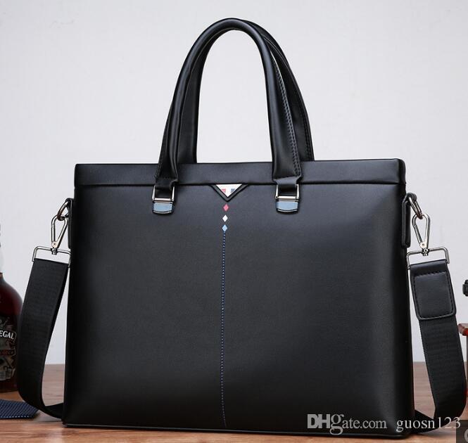 Nova kao luo lin canguru masculino saco de moda de couro macio dos homens de negócios bolsa de ombro diagonal saco do computador