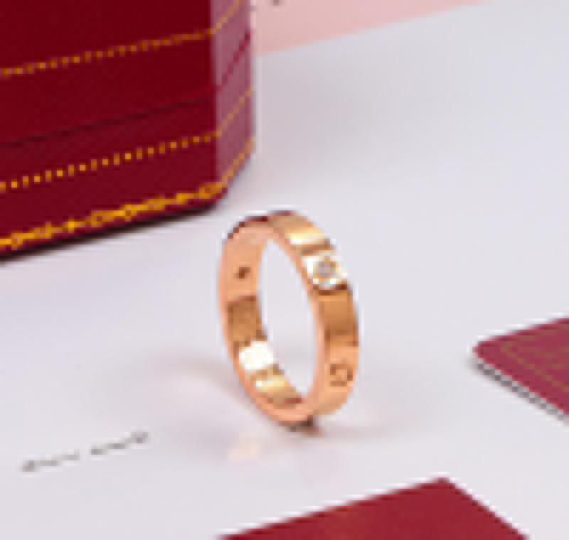 aço venda Titanium quente subiu anel de prata anel de jóias chave de fenda amante de moda anel de casamento das mulheres de ouro