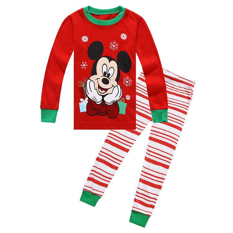 2019 bambini bambino pigiami delle ragazze dei vestiti set 100% dei bambini del cotone Sleepwear 2 pezzi del fumetto di tops + pants del bambino capretto del vestito Pigiama