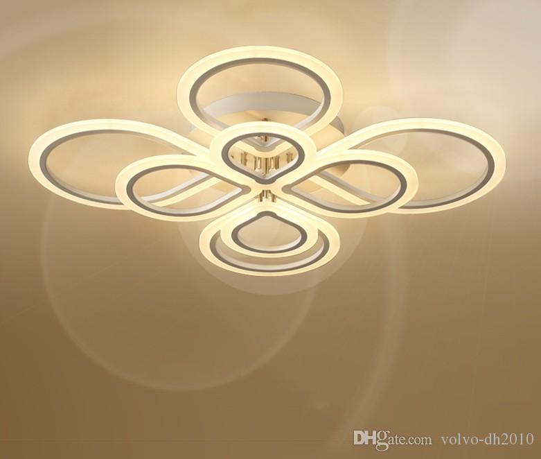 Moderna Lampadari LED Lampadari Per Soggiorno Camera da letto Sala da pranzo acrilica domestica dell'interno luce di soffitto del lampadario a bracci apparecchi di illuminazione