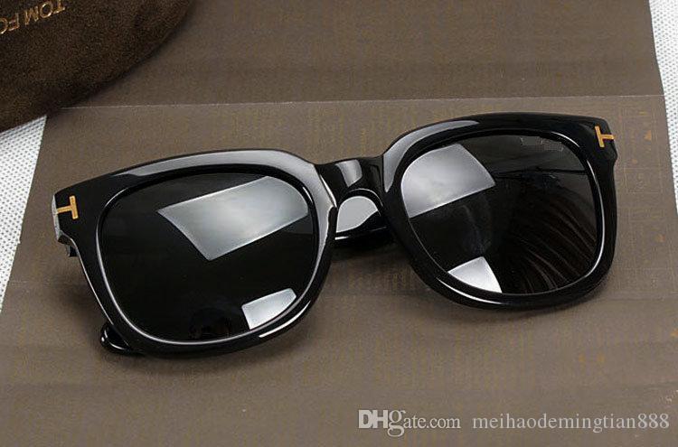 Лучшие качества Новая мода 211 Солнцезащитные очки для Тома Мужчина Женщина очки конструктора Марка Солнцезащитные очки брода Линзы с коробкой Солнцезащитные линзы 212