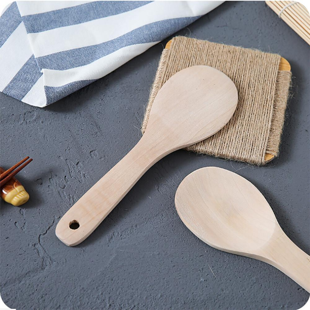Light and practical type pure wood home kitchen bamboo spoon new spatula wood utensils cooking spoon tool solid color #LC