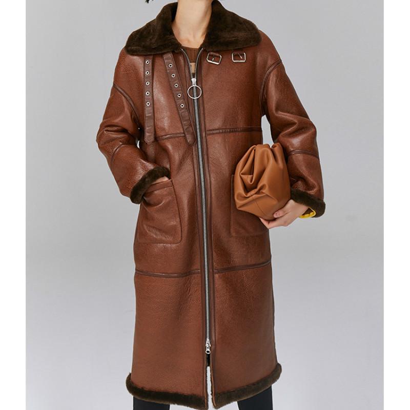 Natural Real Fur Coat Female Genuine Leather Jacket Women Clothes 2020 Korean Vintage Sheepskin Coat Double-faced Fur Tops T4496