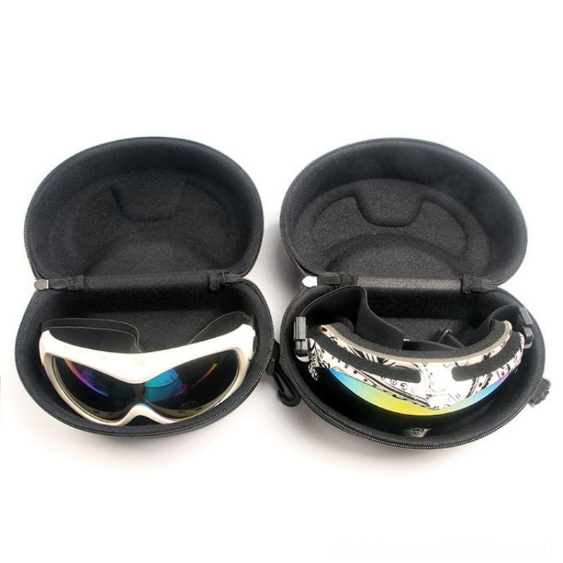 Lunettes cas de neige de ski Lunettes de soleil Lunettes de cas Zipper dur Protector Cases Sacs Boîte Support de fixation de sécurité Sports Athlétiques extérieur Accs