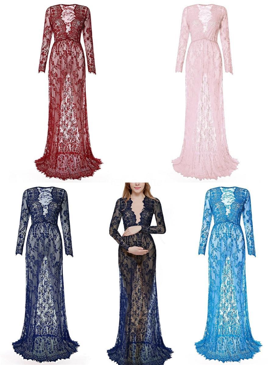 2020 rubor rosa de la vendimia de Boho boda vestidos de cuello en V manga larga de la playa de Bohemia Vestidos de novia barrer de tren Vestidos de Noiva Bc1438 # 390
