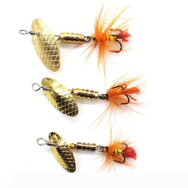Sequin Spoon Fishing Lures Metal Spinner Feather Crankbait Fishing Baits Hard Fishing Lures 2g 3g 4g Fish Tackle Tools