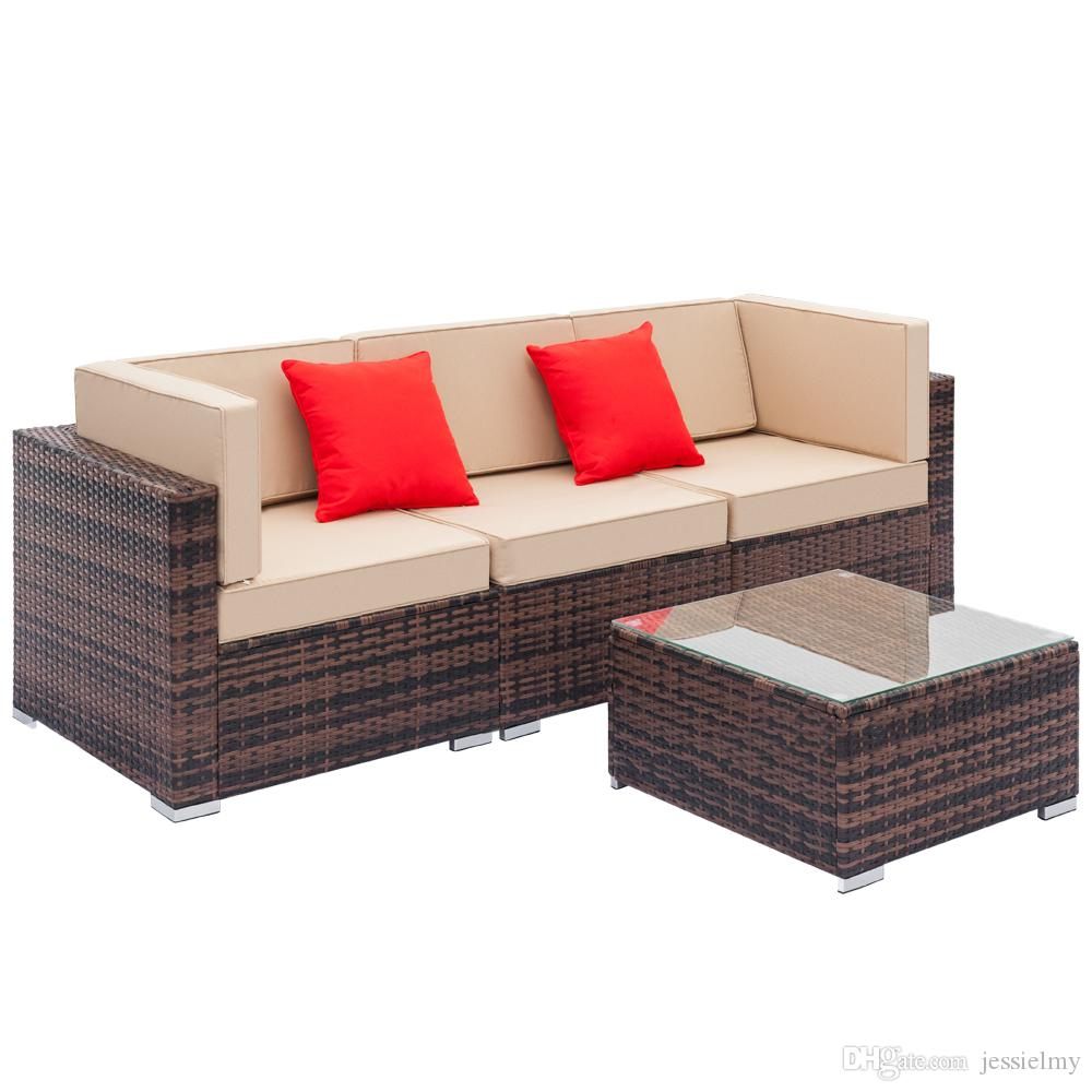 2019 Outdoor Conversation Set Rattan Furniture Sectional Sofa Sets  Executive Guest Reception Chairs Patio Furniture All Weather From  Jessielmy, ...