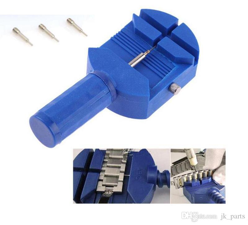 Montre Repair Tool For Band Lien Bracelet Bracelet Slit chaîne Pin Remover montre régleur Outils avec Free 3 broches montre le kit de réparation d'outils