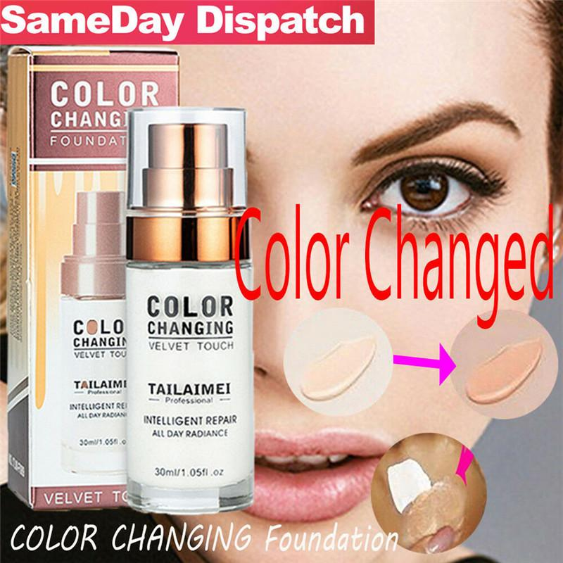 30ml Color Changing Fondation GGP Profesional Color Changing Maquillage de visage Maquillage imperméable cadeau Soins de la peau fond de teint liquide