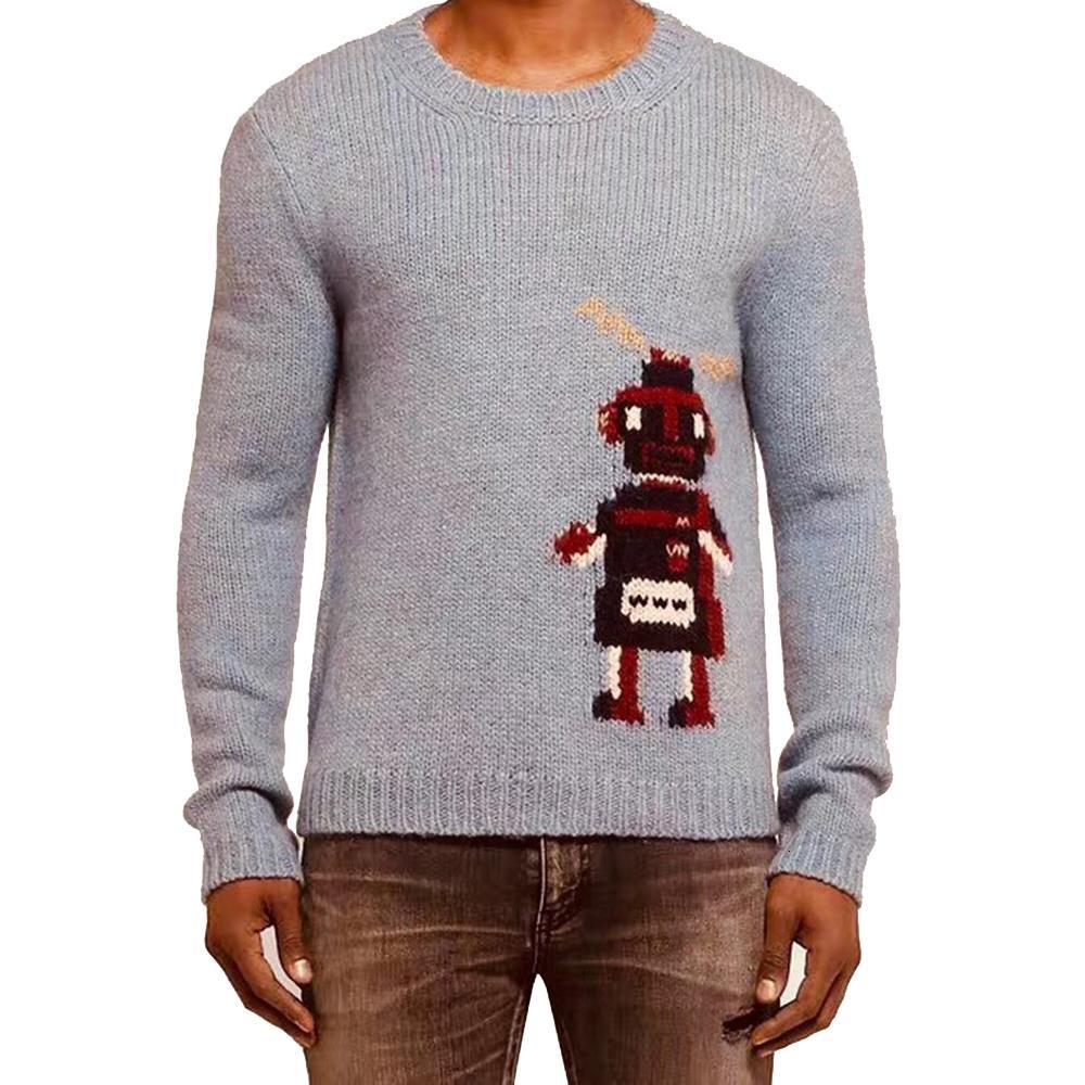 DUYOU 2019 Nouveau Automne Hiver Pull Hommes Pull motif Robot pull en tricot Homme Mode Casual haute qualité Pull SH190930