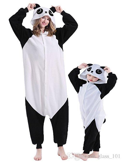 뜨거운 판매 따뜻한 크리스마스 파티 부모 - 아이 옷 Unisex Onesies 쿵푸 팬더 잠옷 잠옷 파자마 (모든 연령대 의상)
