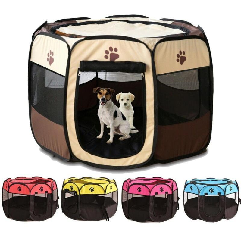 Portable Outdoor Kennels Fences Pet Tent Houses For Large Small Dogs Foldable Indoor Playpen Puppy Cats Pet Cage Delivery Room