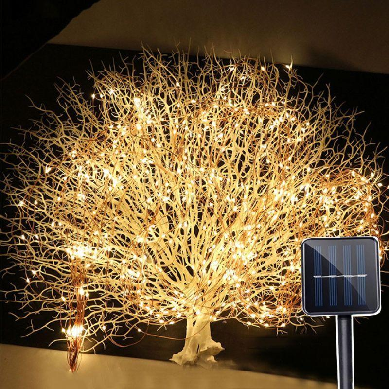 Outdoor Fairy String Lights Solar 50 LED Waterproof Garden Decor Christmas Light