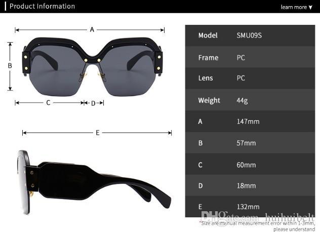 Lentilles 2019 Sunglasses Nouvelles lunettes de soleil colorées Fradeuses Dames XGPFK