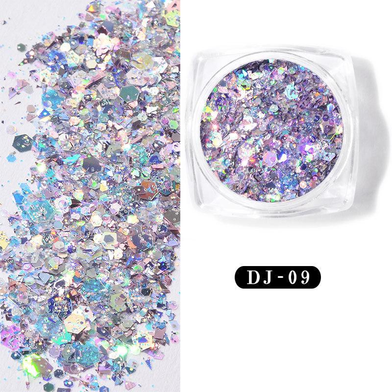 3D Holografik Lazer Glitter Nail Flakes Denizkızı Glitter Pullarda Nail Art Dekorasyon pulları Dekor İpuçları Pırıltılı Paillette