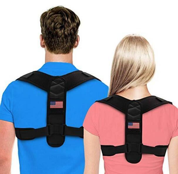 Personnaliser Logo Posture Correcteur Vest pour les adolescents hommes et femmes supérieur réglable Retour Brace Pour Clavicule du soutien et des soulagement de la douleur