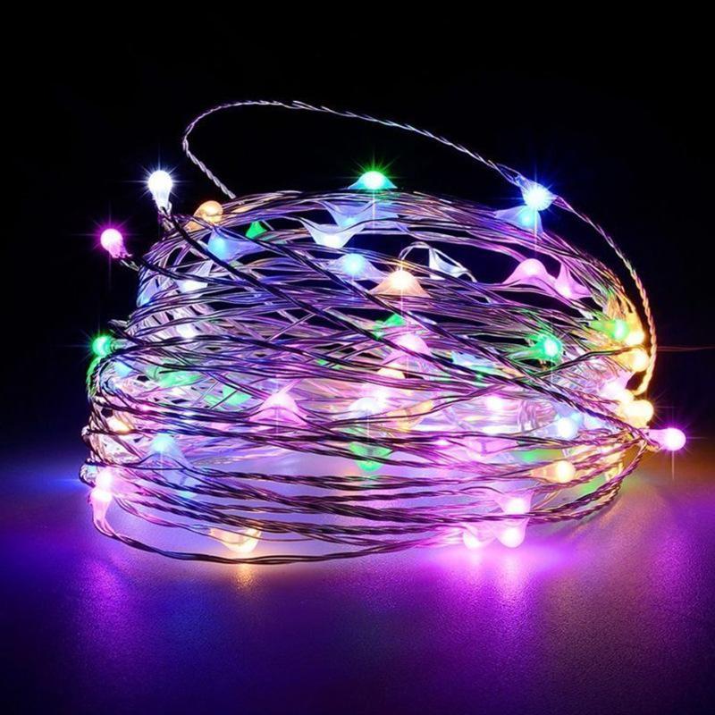Tapón de la botella de luz 1M 2M 10LED 20LED corcho en forma de botella de cristal de la lámpara LED de cobre Cuerdas luces de la boda de Navidad Fiesta de Halloween HHA1073