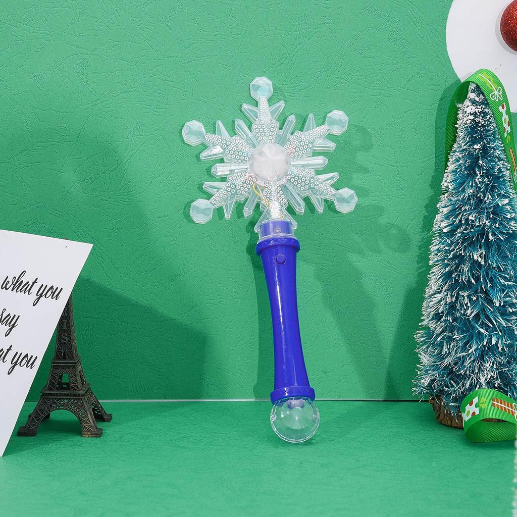 1Pcs Snowflake Led Toys 3 Modes Luxury Led Magic Snowflake Wand Flashing Light Up Glow Party Christmas Colorful Light-Up Toys mvvuz