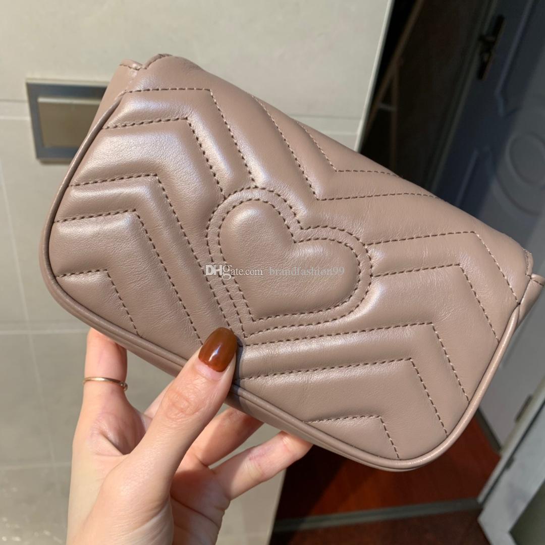 2019 classic mulher moda super mini amor estilo coração do estilo zig zag quente saco de alta qualidade de couro cadeia de retalho crossbody shouler 476433