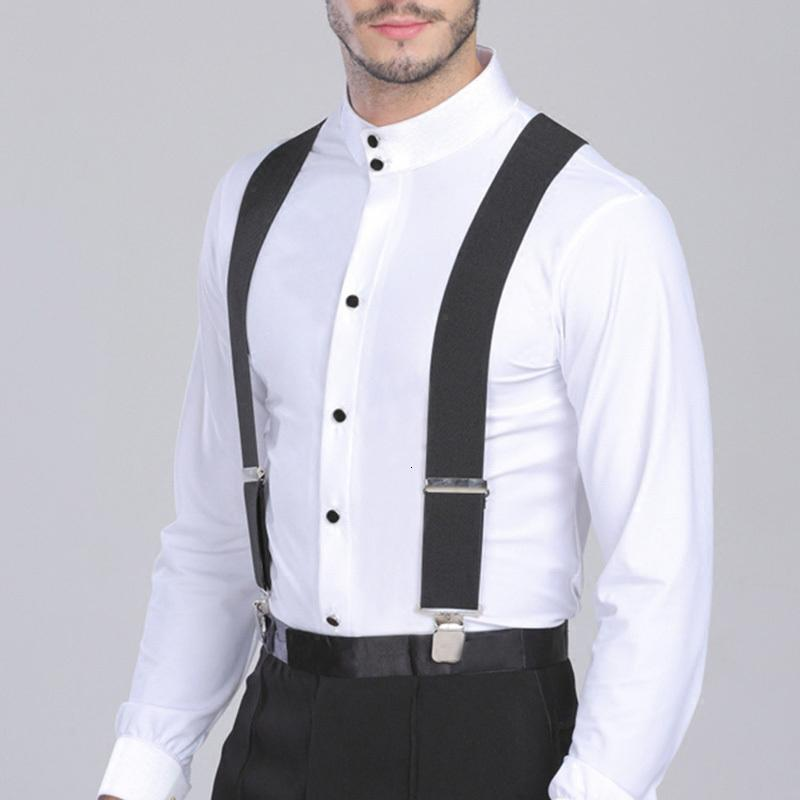 50mm Wide Elastic Adjustable Men Trouser Braces Suspenders X Shape with Strong Metal Clips