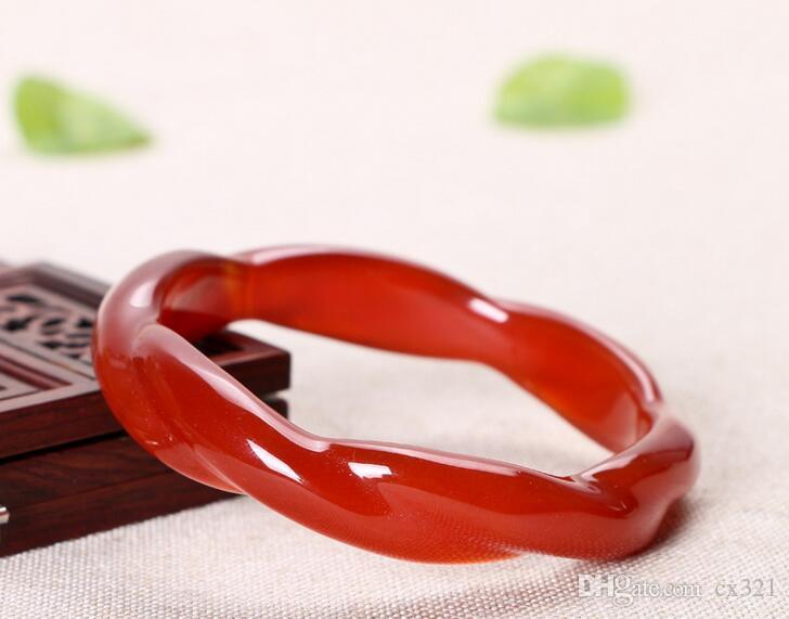 천연 붉은 마노 대나무 팔찌 팔찌 대나무 어린이 옥 팔찌 섹션 마스터 링 옥수 공장 직접 판매