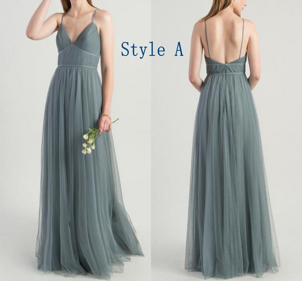 Light Gray Bridesmaid Dress Chiffon Long Bridesmaid Gowns Burgndy/Royal Blue/Lavender Bridesmaid Dresses 2 Styles for choice