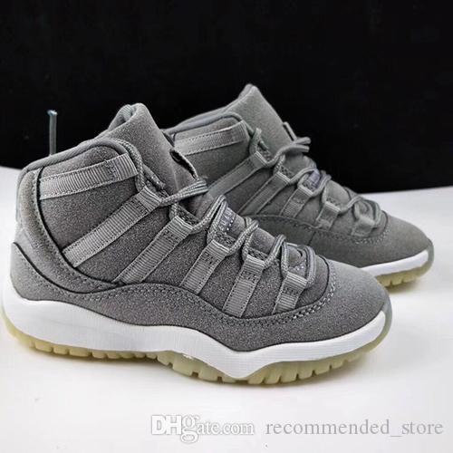 Niños cómodos zapatos atléticos para niños Niños Zapatos de baloncesto Calzado deportivo para niños 11 Leyenda Azul niños pequeños con la caja blanca