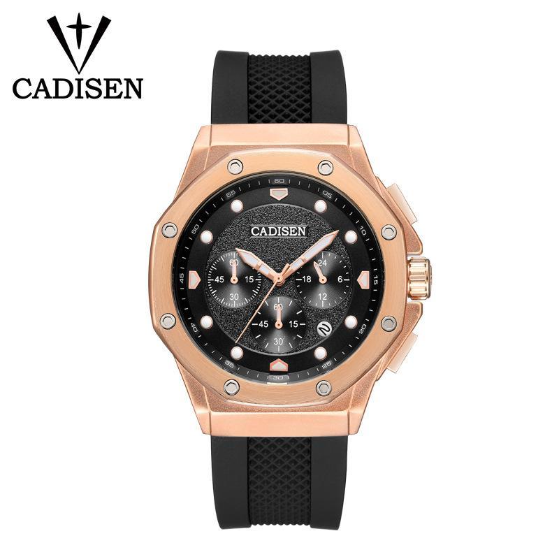 Explosion High-End-Designer-Maschine Herren-Uhr-Silikon-Quarz-Uhr-Art und Luxus-Business Casual Multi-Funktions-Herren-Uhr C9058