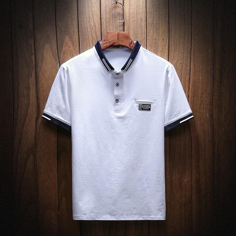 PADEGAO 2020 High Quality Tops&Tees Men's Shirts Business Men Brands Shirts Decorative Patch Mens Shirt PDG1389