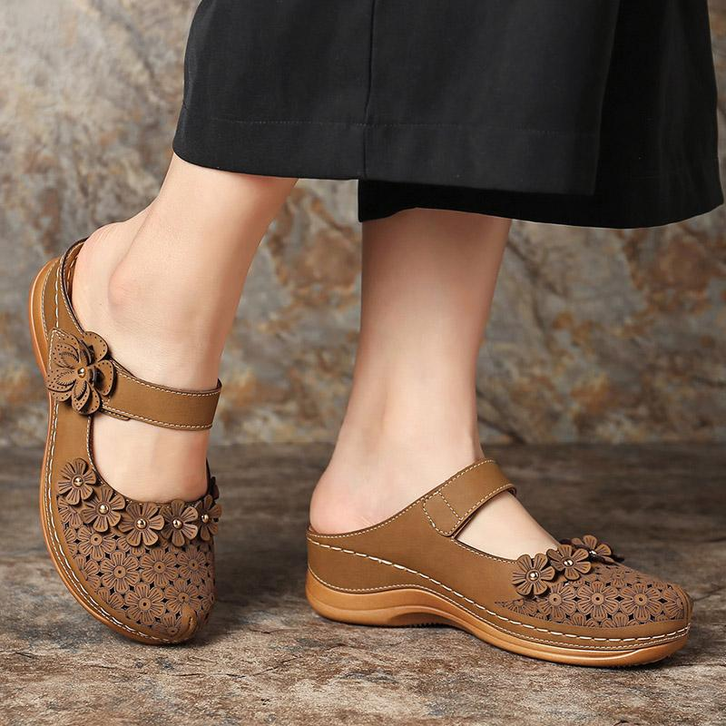 Frauen Appliqus Sandalen Damen aushöhlen Schuhe Hook Schleife Weibliche Breathable Frauen Solid Schuhe Fashion 2020 New Plus Size