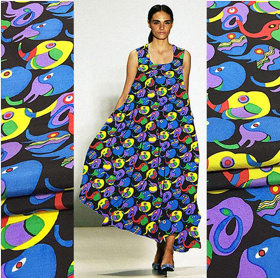 Мультфильм птица 100 % шелк двойной дом ткань шелковицы шелк двойной дом ткань платье