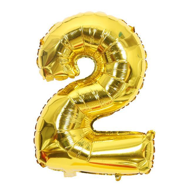 1 Pc Dev Folyo Numarası Balonlar Helyum Büyük Baloons Doğdun Düğün Kutlama Dekoratif Balon 32 İnç
