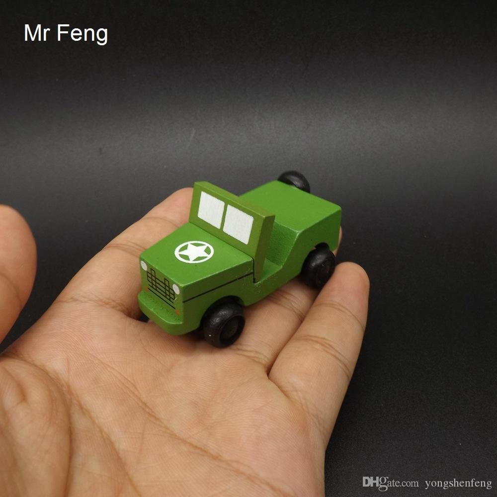 الأطفال مصغرة نموذج سيارة خشبية بنين لعب أطفال العسكرية jeep لعبة التدريس التدريب الدعامة (نموذج رقم I145)