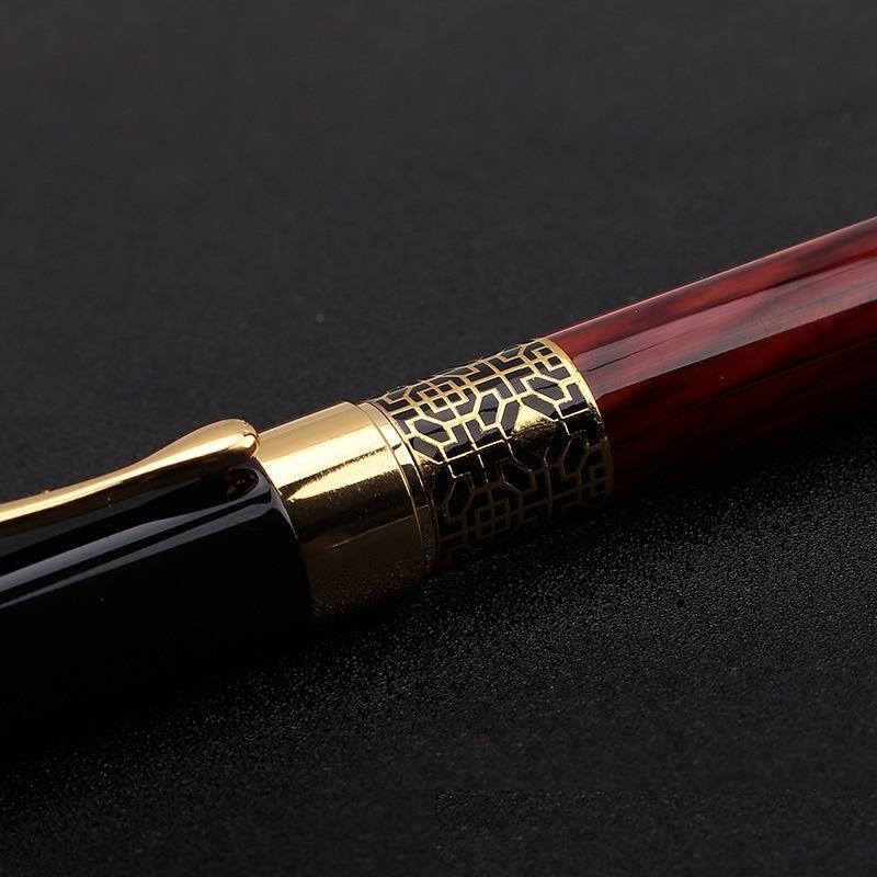 Mayor de la alta calidad clásica de la pluma del grano de madera de alta calidad pluma de visita del metal Firma Pluma