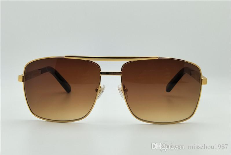 Erkekler güneş gözlüğü tutum sunglass altın çerçeve kare metal çerçeve vintage stil açık tasarım Womenl için klasik mod Metal Çerçeve Güneş gözlük