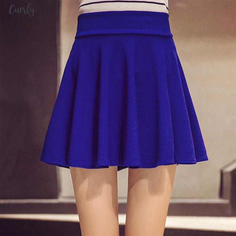 10 M 5XL Renkleri Kadınlar Yüksek Bel Pileli Etekler Pantolon Yaz Süper Elastik Mini Etekler Faldas Mujer SAIAS