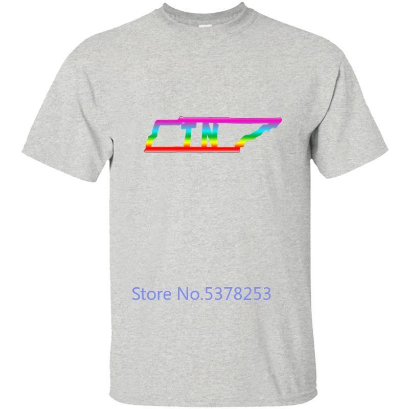 New Tennessee Gay Pride LGBTQ T-shirt des hommes T-shirt des hommes T-shirt Vêtements Cool Oversize Hip Hop La Chemisette manches courtes