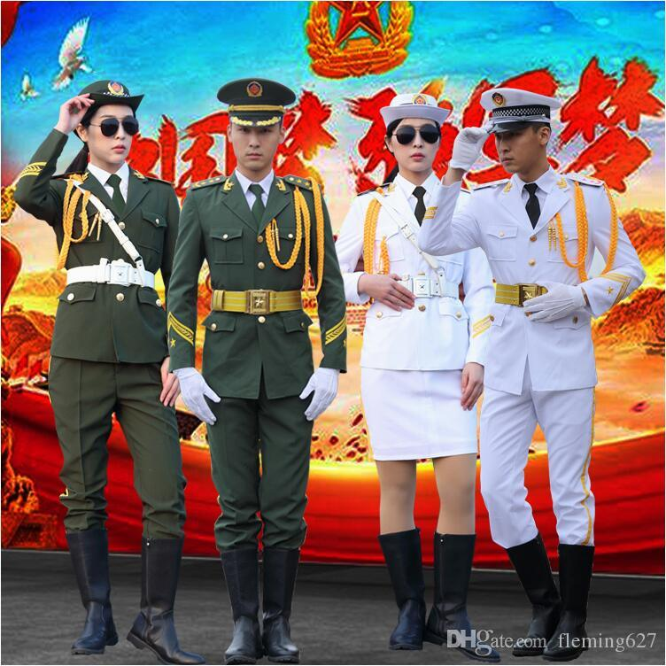 Handsome Flag Raiser Costume Honor Guard China National Performance Military Music Band Outfit Drum Army Guard of Honor Costume Clothing